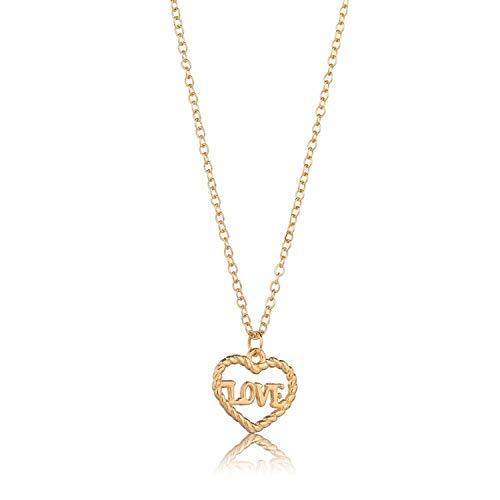 Lishfun Minimalist Heart Shape Love Pendant Necklace for Women Girls 2019 Necklace Choker DIY Wedding Irregular Alloy Jewelry Dropship