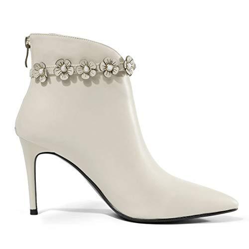 Fermeture Bottes Talon Beige Bottes Femme Bottines Sexy Bas Eclair Aiguille Chaussures 5qqArOS