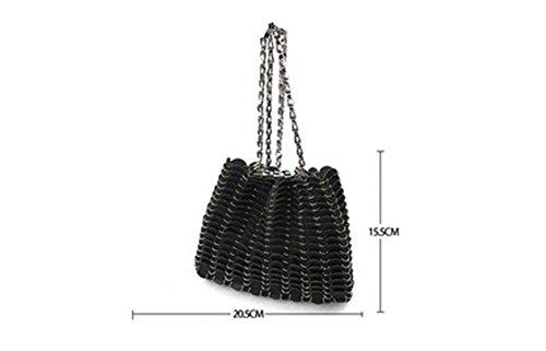 Sacchetto diagonale del pacchetto del sacchetto di spalla della borsa di estate dell'articolo dell'anello del metallo