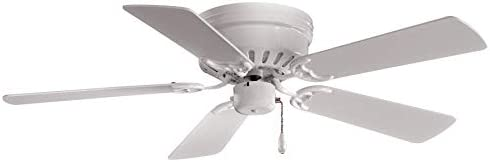 Minka-Aire F566-WH Mesa 42 Inch Flush Mount Low Profile Ceiling Fan White Finish