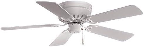 Minka-Aire F566-WH Mesa 42 Inch Flush Mount Low Profile Ceiling Fan White Finish