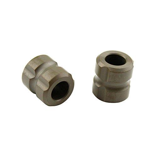 Plain Column Titanium Knife Lanyard Bead EDC Parachute Cord Jewelry Pendant (Pack of 2)
