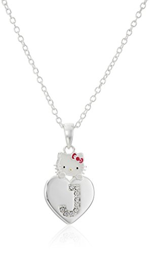 Hello Kitty Crystal Initial Necklace