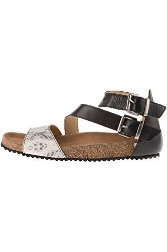 Ulla Popken Damen Große Größen Sandalette 715707 Schwarz