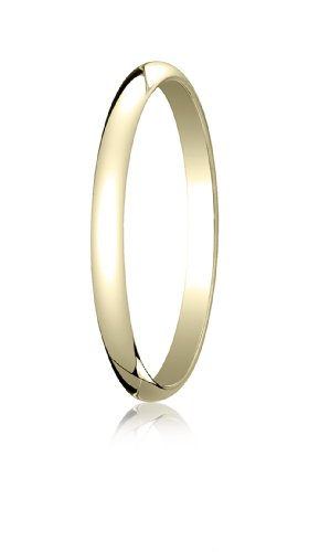 Womens 14K Yellow Gold, 2.0mm Traditional Dome Oval Ring (sz 6.5)