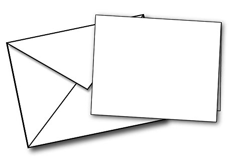 Blank White Mini Note Card Sets - 40 Cards & Envelopes - Small Note Cards with Mini Envelopes