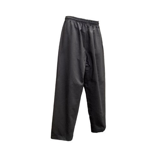 Tiger Claw Elite Poly/Cotton Karate Pants - Black - Size 6 by Tiger Claw