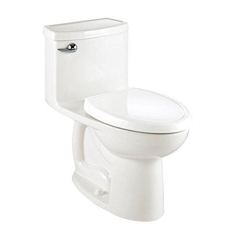 American Standard 2403.012.020 Compact Cadet-3 Elongated One-Piece Toilet, White (Compact Cadet 3 White)
