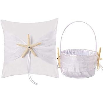 Amazon.com: WElinks - Cesta de flores para boda, diseño de ...