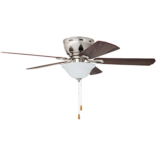Prominence Home 80031-01 Woodmere Low-Profile Hugger Ceiling Fan with LED Bowl, 52 inches, Brushed Nickel by Prominence Home (Image #5)