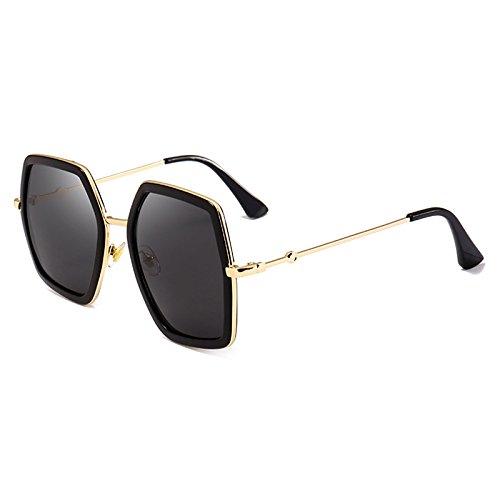 Espejo Sol Sol Mujer de Sobredimensionado UV400 de Gafas Plaza E A Marco Marca Grandes diseñador Lujo de Gafas Crystal Sombras Burenqi Señoras XU4qx