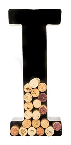 Wine Cork Holder - Metal Monogram Letter (I)