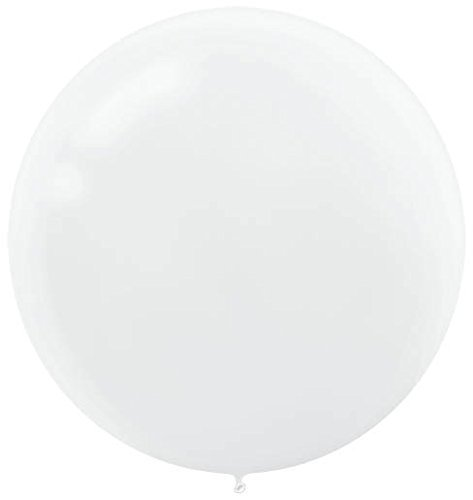 Amscan 115909.08 Latex Balloons, One Size, White