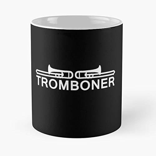 Trombone Tromboner Trumpet Trumpeter - Funny Coffee Mug, Gag Gift Poop Fun Mugs