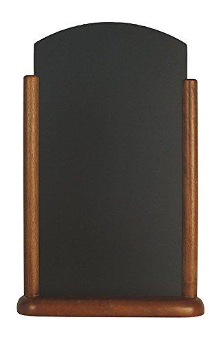 Marrone 25x40cm securit elegante laccato Fine Table Top Chalk Board