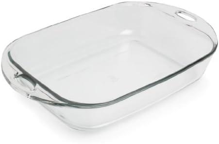 Amazon Com Anchor Hocking 4 Quart Premium Rectangular Baking Dish Set Of 3 Kitchen Dining