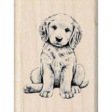 (Inkadinkado Puppy Dog Rubber Mounted Stamp for Card Making and Scrapbooking, 1pc, 1.25''L X 1.5''W)