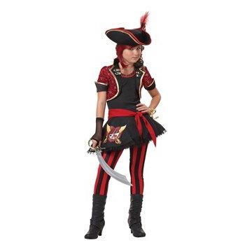 Sassy Pirate - Sassy Pirate Captain Tween Costume Size Large
