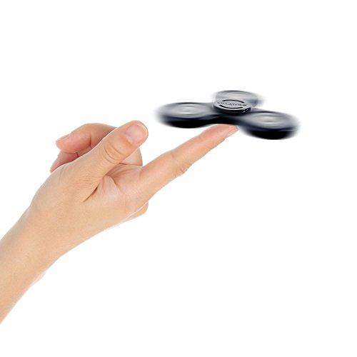 VILLATONE – Black Fidget Spinner – Professional (Si3N4 Ceramic R608 Bearing) – High Speed & Longest Spin. EDC ADHD Focus Figit Tri-Spinner. Boredom Attention Anxiety Hand Toy