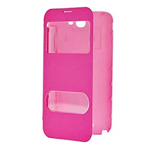 ZCL Minimalist Solid Color PU Leather Full Body Case With Two Windows for Samsung Galaxy Note 2 N7100 (Assorted Colors)