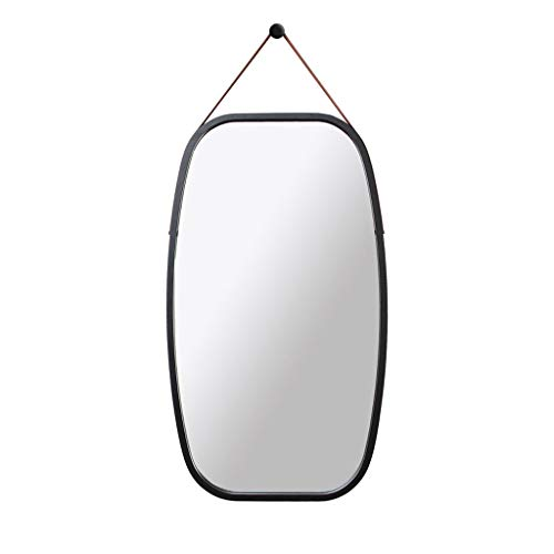 Bamboo Black Mirror - Lyqqqq European Style Wall Square Black Wall Hanging Clothes Mirror Hall Full Body Mirror Half Body Hanging Mirror 74x43cm