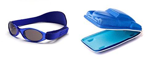 Lunettes de soleil Kidzbanz 2 à 5 ans , Bleu, et un étui lunettes de soleil Yoccoes - en forme de Voiture Cubaine