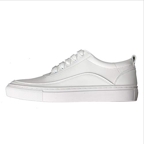AIMENGA Zapatos Planos Suela Plana Simple De Otoño con Motivos Deportivos Femenina Lace Little White Shoes Estudiante Casual Zapatillas white