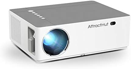Native 1080P Projector 6000 Lumens – Full HD Video Projector 1920 x 1080,5D Keystone Correction Support 4k & Zoom, Home Theater Projector System Compatible with PC,TV Box,PS4