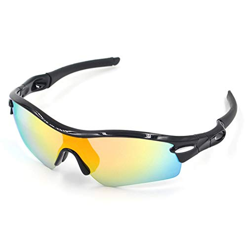 Adisaer Sport Brille durchsichtig Sports Glasses Outdoor Riding Equipment Sunglasses Riding Goggles Black for Unisex