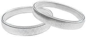 Men's Spring Bracelet Bartender Anti-skidding Sleeve Hoop Armbands White