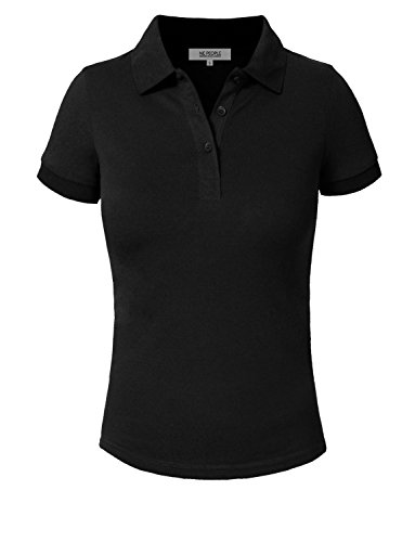 NE PEOPLE Womens Short Sleeve Pique Polo Shirt (16 Colors) S-3XL