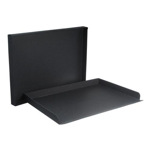 Archival Method Drop Front Box 1.5'' 17.5'' x 22.5'', Black by Archival Methods
