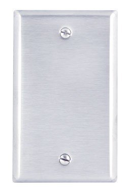 Leviton 84014 1-Gang No Device Blank Wallplate, Standard Size, Box Mount, Stainless Steel (20 Pack)