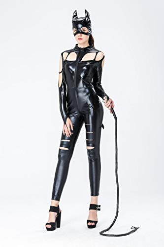 Sexy Gyh Cosplay Catsuit Wet Donna Lingerie Look Verniciata Pelle Abbigliamento Catwoman OqTqHd