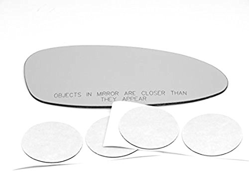 VAM Fits 05-09 Porsche 911 / Boxster / 06-08 Cayman Right Passenger Convex Mirror Glass Lens W/Silicone USA Direct Fits Over Glass for Models with Auto Dimming Only