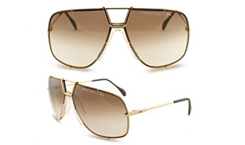 Cazal 902-097 Oval Sunglasses,Gold Frame/Brown Gradient Lens,66 - Round Cazal