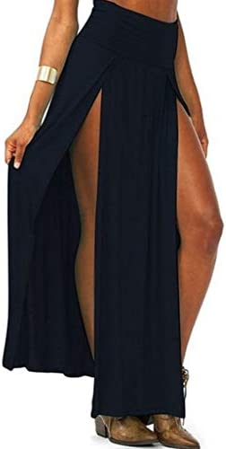 KINTRADE Para Mujer de Cintura Alta Sexy Doble Abertura Delantera ...