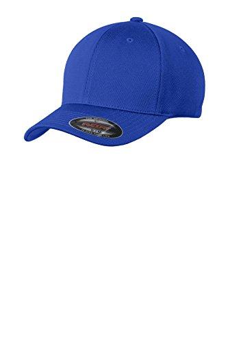 Sport-Tek Men's Flexfit Cool & Dry Poly Block Mesh Cap S/M True Royal