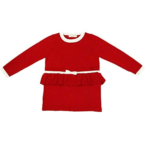 - LIUONE Baby Infant Girls One Piece Crewneck Long Sleeve Winter Knit Sweater Dresses Playwear Dress Bowknot Stripe Details (red, 3-4 Years)