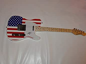 hank williams jr signed usa electric guitar legend jr jsa coa 1 at amazon 39 s entertainment. Black Bedroom Furniture Sets. Home Design Ideas