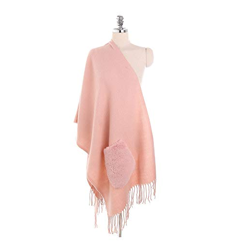 LISTHA Pocket Cashmere Scarf Shawl Women Cute Cardigan Coat Fashion Street Style