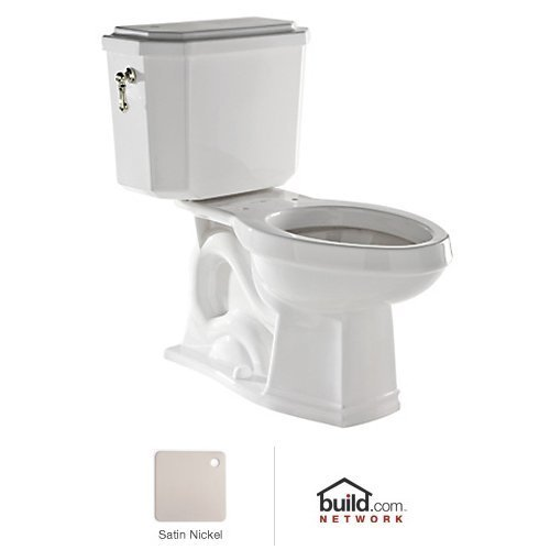 Rohl U.KIT132-STN Deco 1.6 GPF Elongated Toilet with 12'' Rough in and Flush Lever, Satin Nickel by Rohl