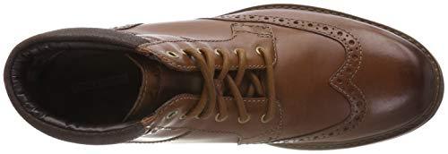 Para Hombre Marrón Clarks Chelsea Botas Curington Leather Rise tan TnPrnx