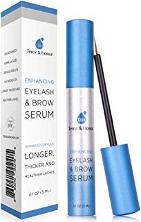 Natural Eyelash Growth Serum and Brow Enhancer to Grow Thicker, Longer Lashes for Long, Luscious Lashes and Eyebrows[3ml] by TEREZ & HONOR