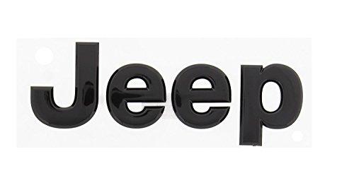 3D Sticker j e e p letter Glossy black Front or Rear Emblem Nameplate Decal Boot Words for jeep Head Hood Logo Sticker Wrangler Grand Cherokee Liberty Compass (Bmw Sticker Front Emblem)