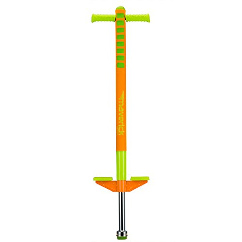 Flybar Limited Edition Foam Maverick Pogo Stick for Boys & Girls, Ages 5-9 (Orange/Lime) Comes With New 'Rubber' Grip Handles. ()