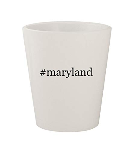 #maryland - Ceramic White Hashtag 1.5oz Shot Glass -