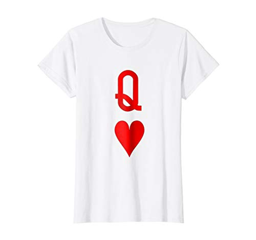 Playing Cards Costume, Halloween Queen of Hearts Tee Shirt