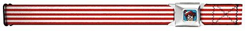 Waldo's Sweater Stripes Red/white Seatbelt (Wizard Whitebeard)