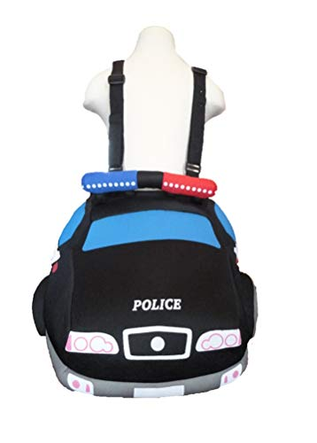 Toddler Boys Ride On Rider Police Car Costume 3T-4T Black -